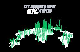 20 percent of key accounts drive 80 percent of spend globally