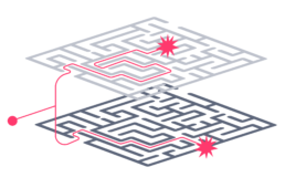 Sales teams simultaneously navigate complex customer and organization mazes.